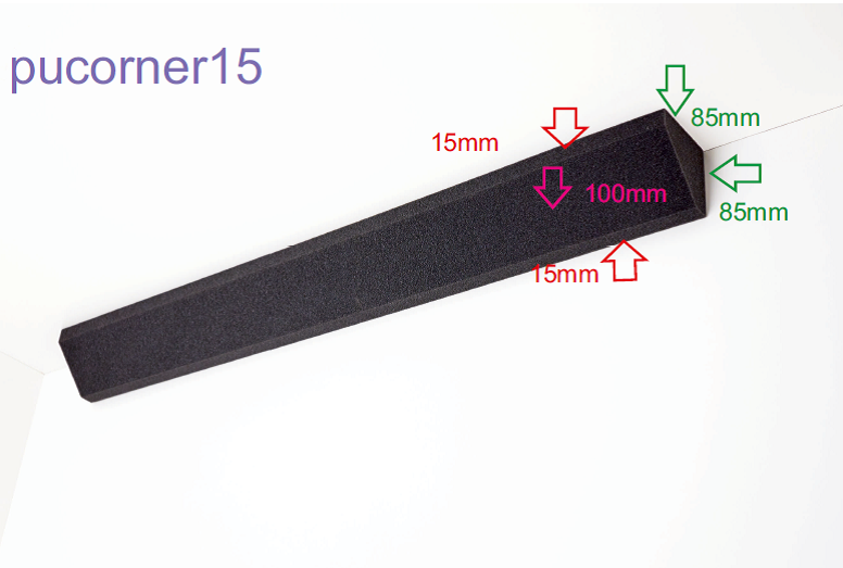 PU Corner 15 mm - grau anthrazit