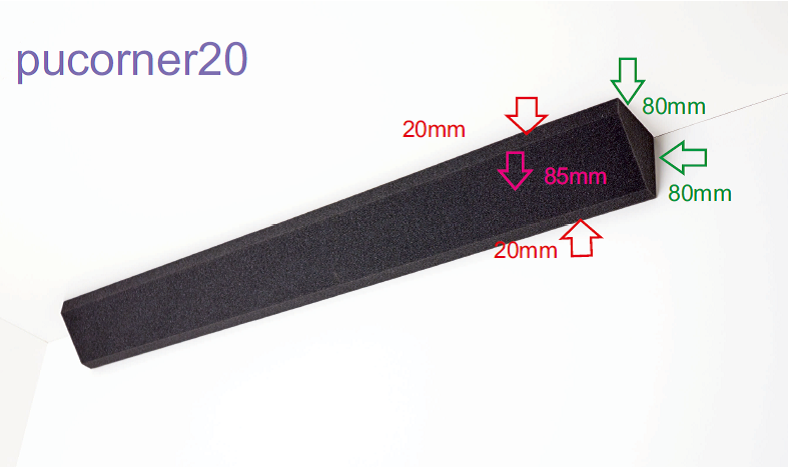 PU Corner 20 mm - grau anthrazit