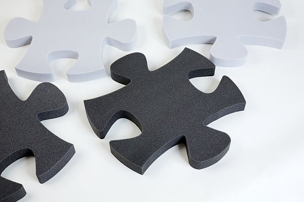 Puzzle 9-pieces Basotect® - light gray