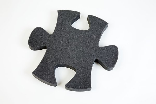 Puzzle PUR - gray anthracite - 5 pieces