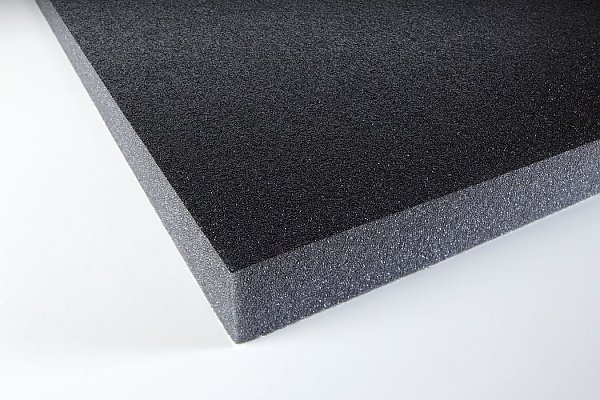 Acoustic foam with protecting skin 30