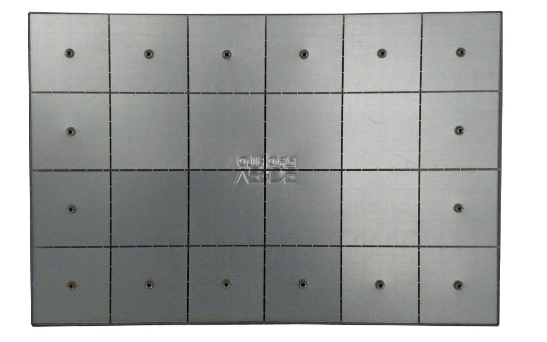 4xSound-Modul Moss on zinc plated steel sheet