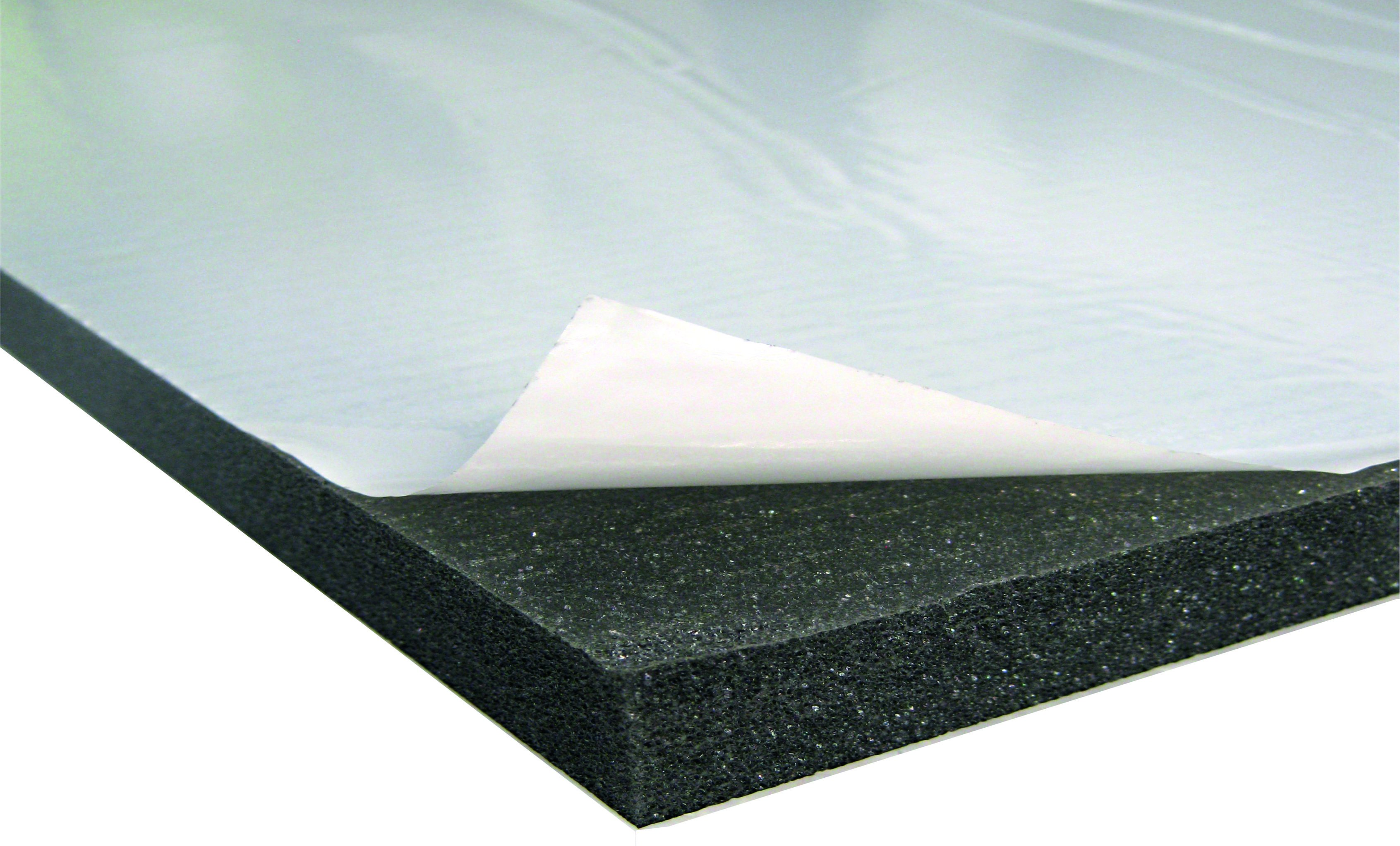 Acoustic foam with protecting skin PUR 20 adhesive