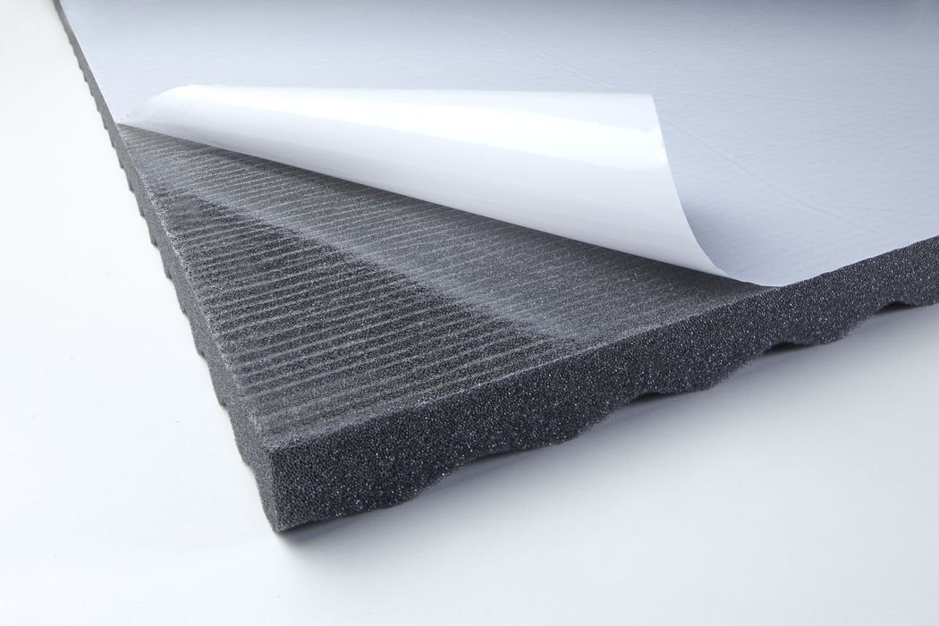 Acoustic Wave Foam Top 30 adhesive