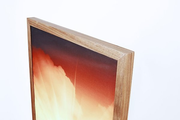 Acoustic picture framed wood