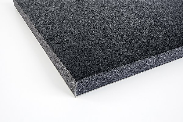 Acoustic foam with protecting skin 32 heavy layer
