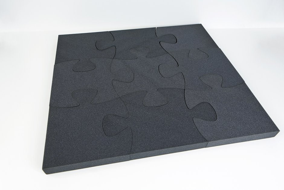 Puzzle 9-pieces PUR - gray anthracite