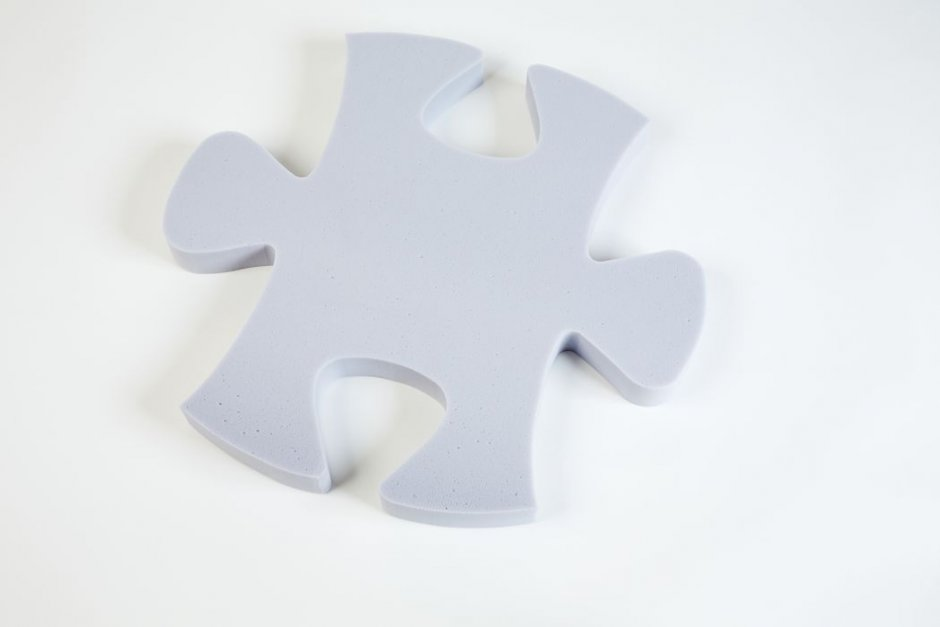Puzzle Basotect® - light gray