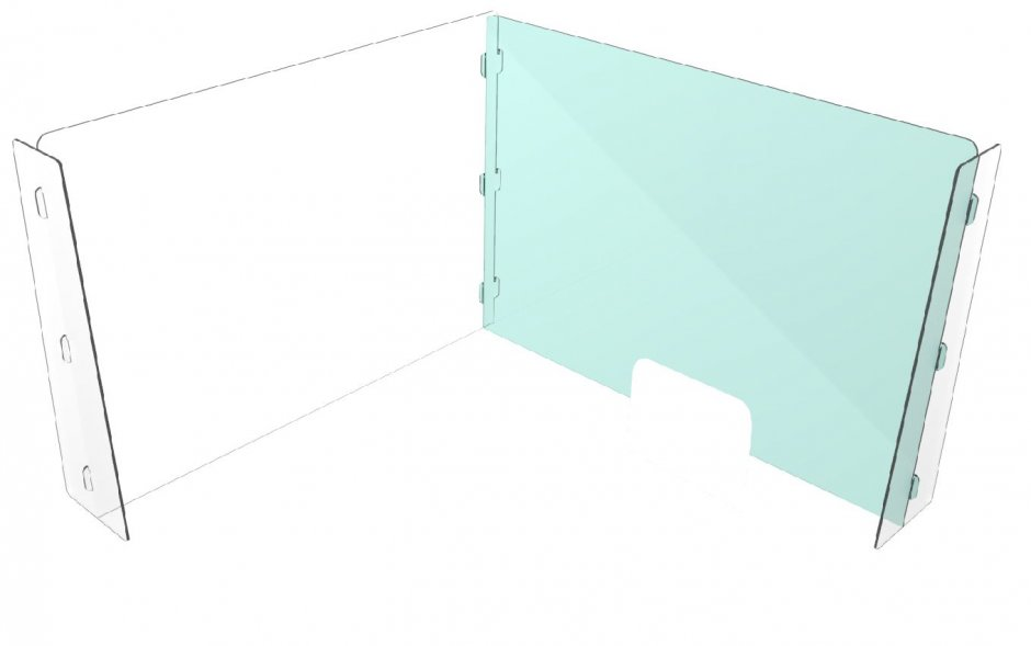 Plexiglas 1000x700x200mm cut out (30x8 or 30x15cm)