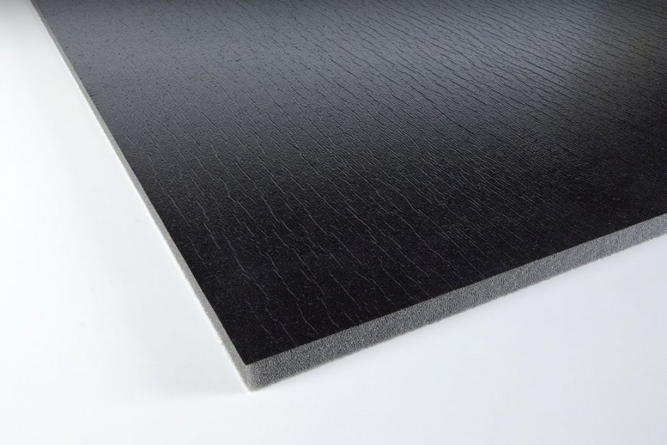 Acoustic foam with protecting skin PUR 10