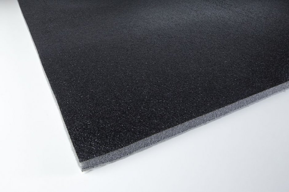 Acoustic foam with protecting skin PUR 10 adhesive