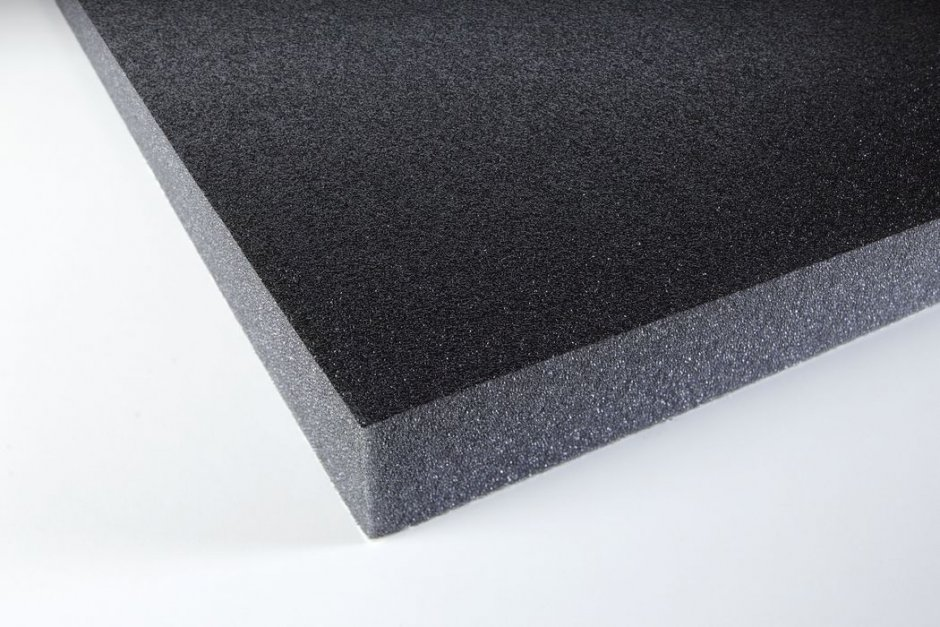 Acoustic foam with protecting skin PUR 30 adhesive